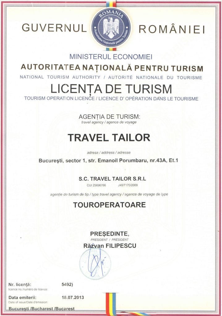 licenta de turism a Travel Tailor