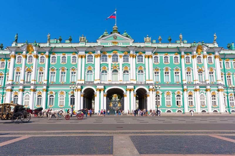 Obiective turistice Sankt Petersburg - Hermitage - palatul de iarna