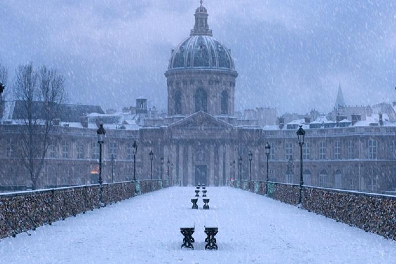 Pont des Arts, iarna