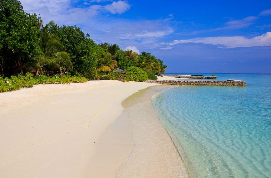Vacanta in Maldive - vedere de pe plaja
