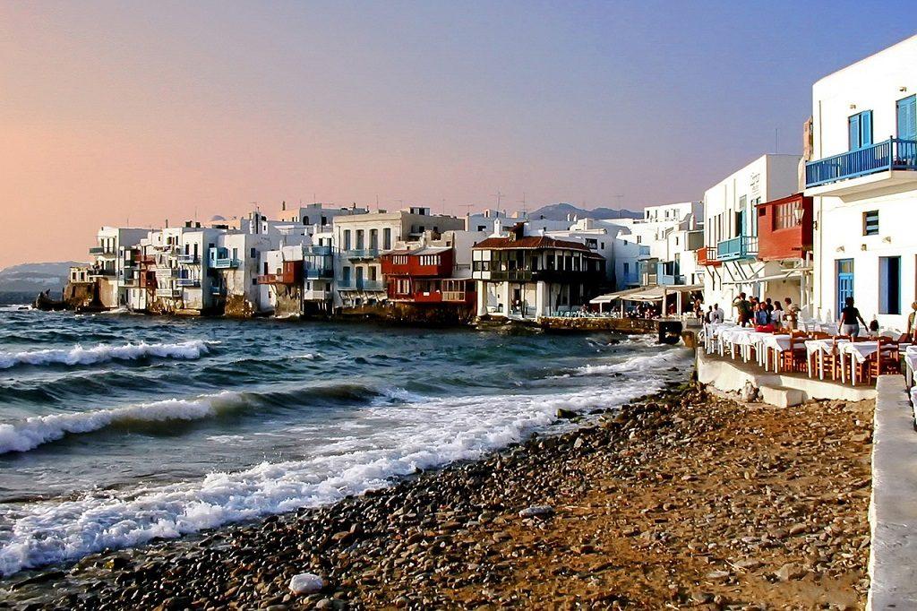 Mykonos, Grecia - peisaj din cartierul venetian