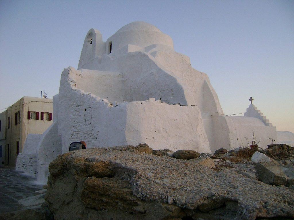 Mykonos - biserica Panagia Paraportiani