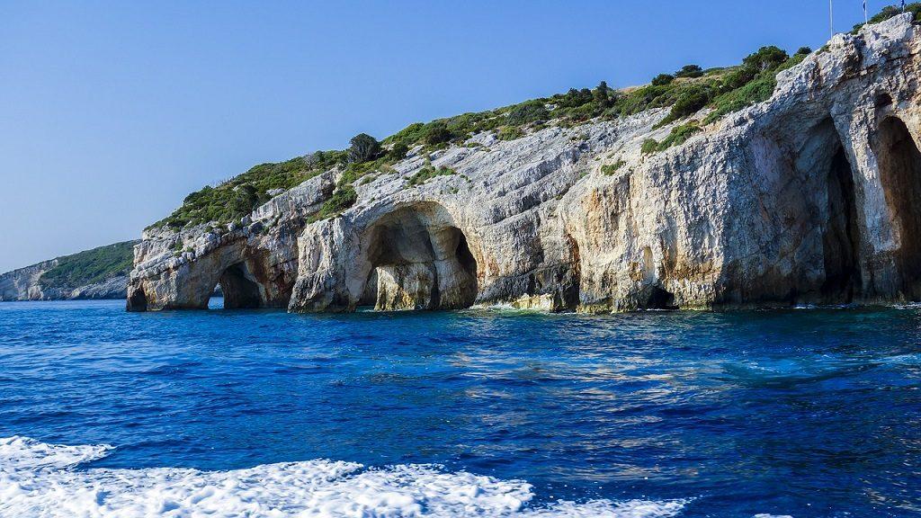 Insula Zakynthos, Grecia - pesterile albastre