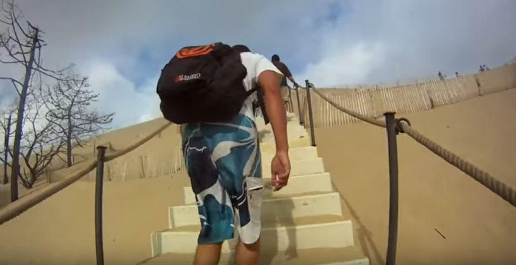 Dune du Pilat - urcus pe scari