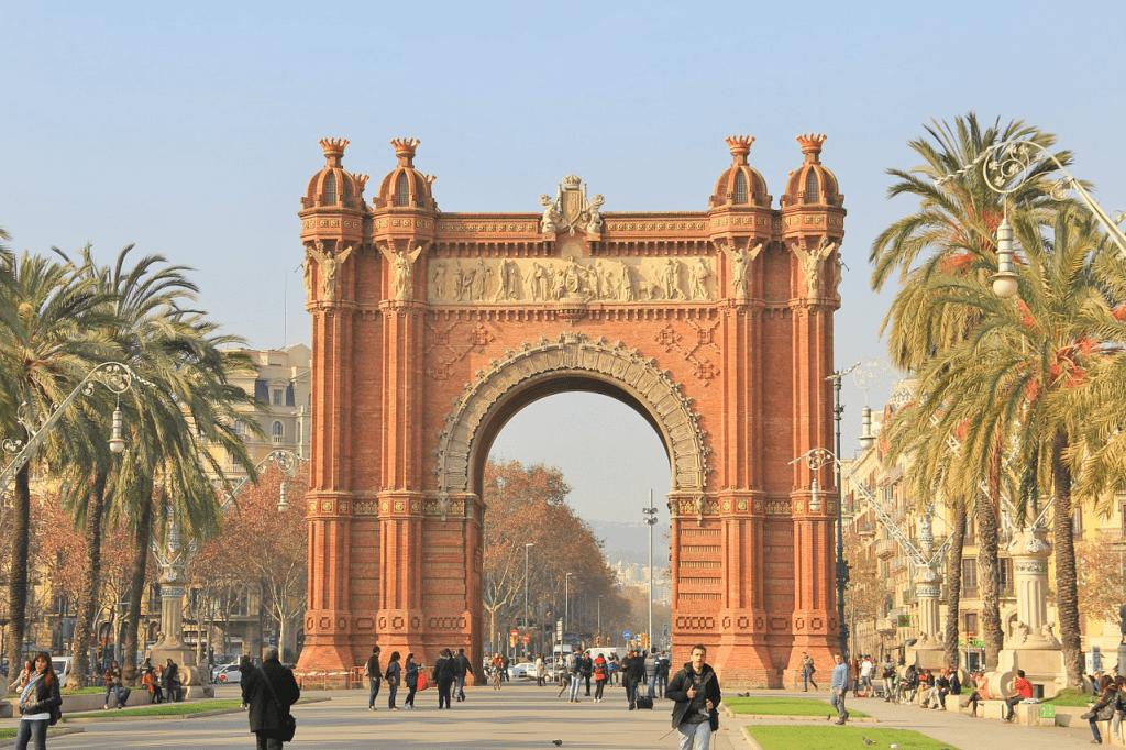 Obiective turistice Barcelona - Arcul de Triumf