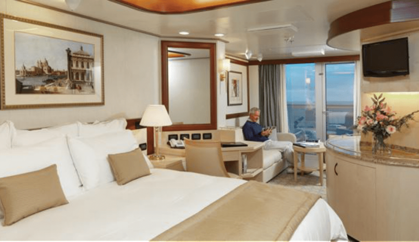 Croaziere de lux in jurul lumii 2019 - Cabina suite cu balcon