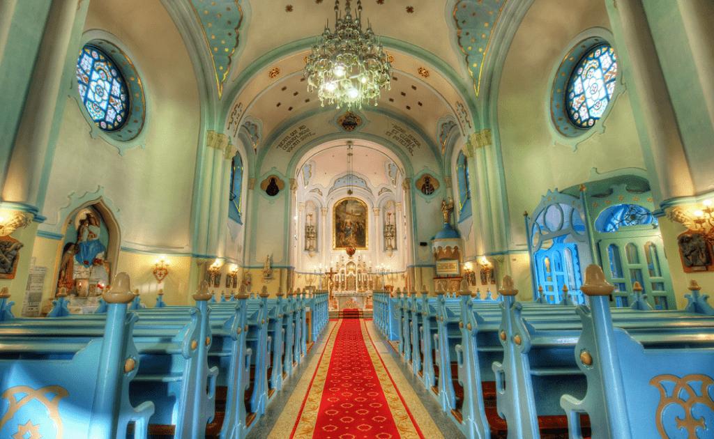 Obiective turistice Bratislava - Biserica Albastra, interior