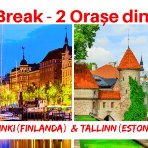 1 City Break – 2 Orașe din 2 Țări: HELSINKI (Finlanda) & TALLINN (Estonia)