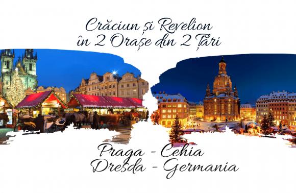 Craciun si Revelion 2018 in 2 Țări: PRAGA (Cehia) & DRESDA (Germania)