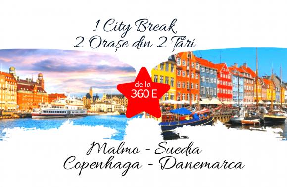 1 City Break – 2 orașe din 2 țări: MALMO & COPENHAGA