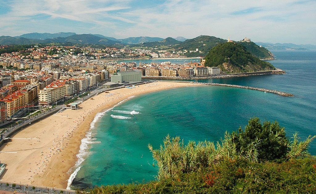 Obiective turistice San Sebastian - Plaja La Zurriola