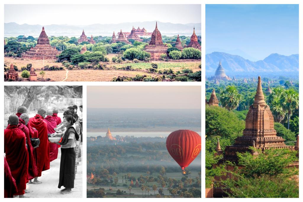 Bagan, cunoscut ca orașul a patru milioane de pagode, este unul dintre cele mai bogate situri arheologice din Asia, este nelipsit intr-un circuit in Myanmar