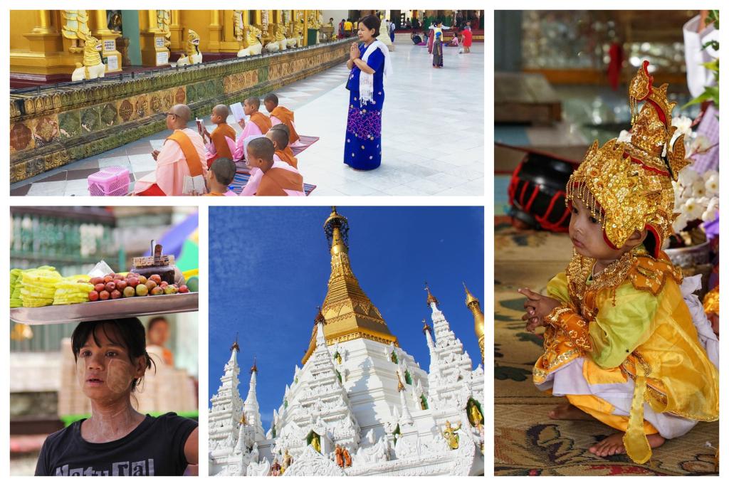 Vizitarea orasului Yangon este obligatorie intr-un circuit in Myanmar deoarece aici se gaseste Pagoda Shwedagon veche de 2000 de ani
