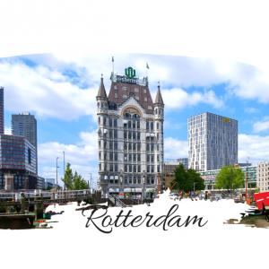 Hotelul New York  Rotterdam transpus in culorile portelanului Delft