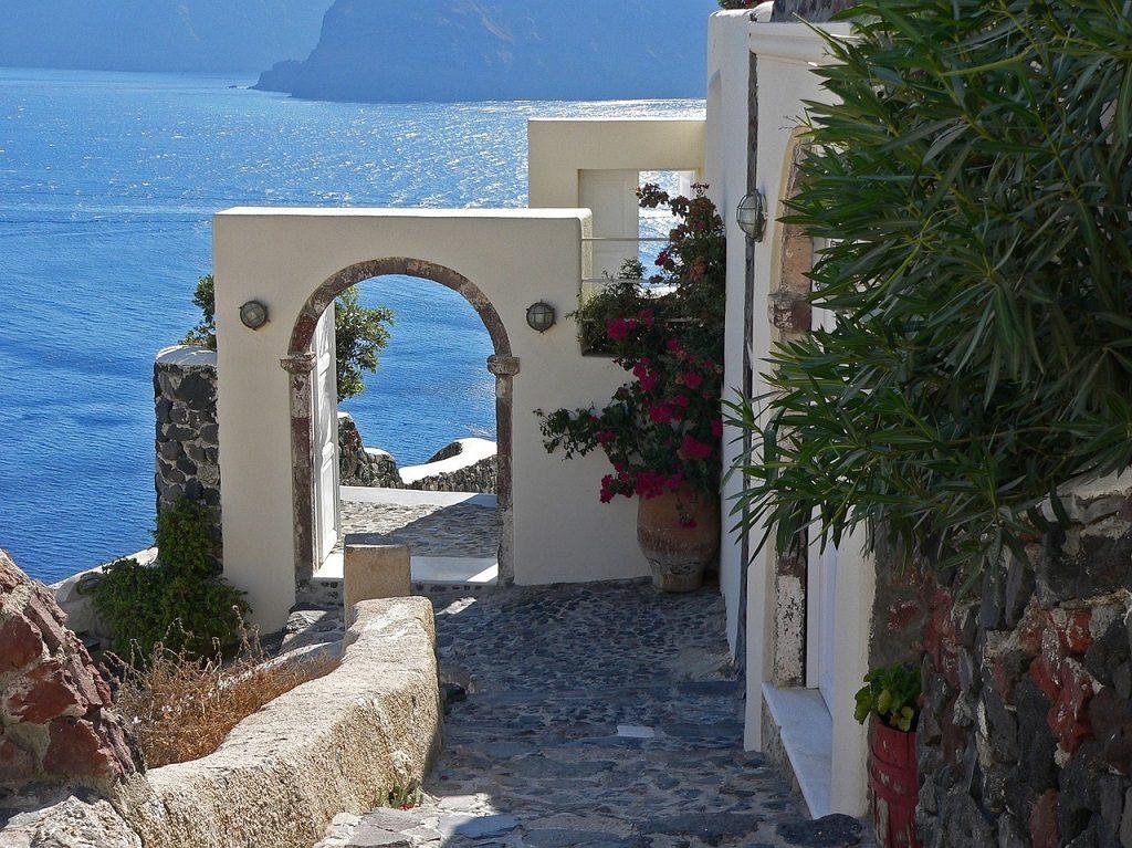 Santorini - poarta albastra