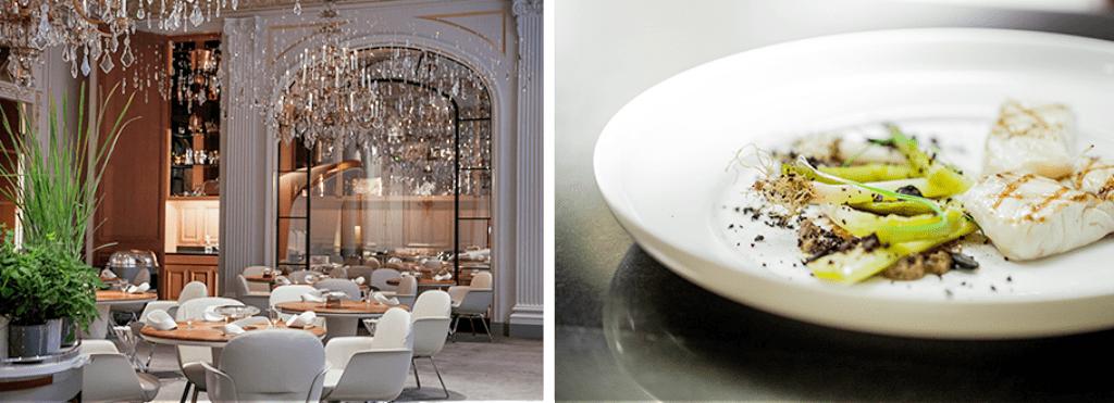 Restaurant Plaza Athenee Paris - restaurant 3 stele Michelin
