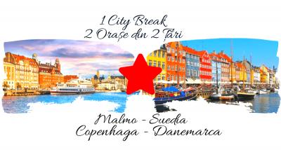 1 City Break – 2 orașe din 2 țări: MALMO & COPENHAGA 2021