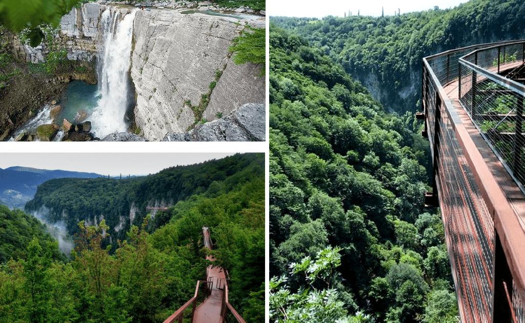 Obiective turistice Kutaisi - Canionul Okatse si Cascada Kinchkha